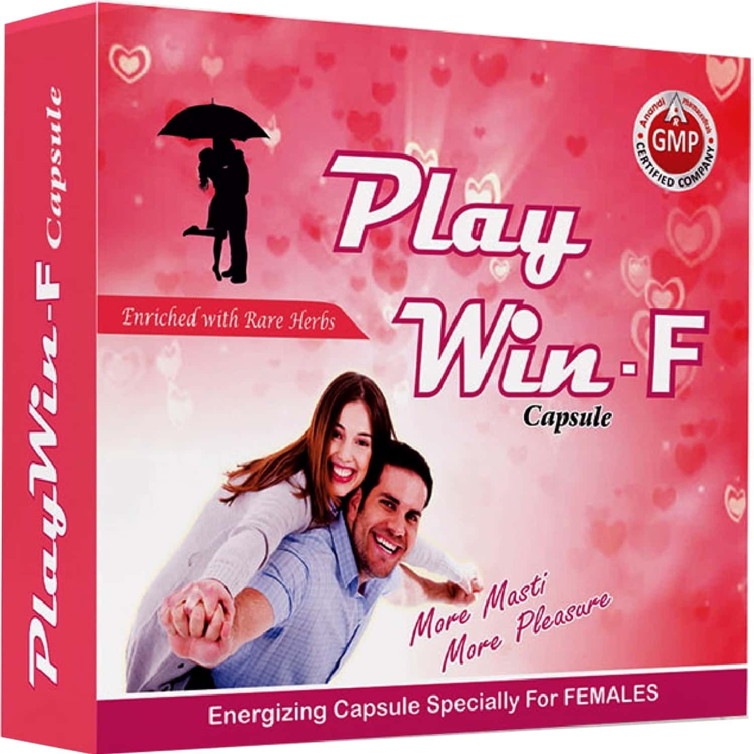 Play Win - F Capsules For Energy Strength & Stamina For Women (pack Of 10 Caps)