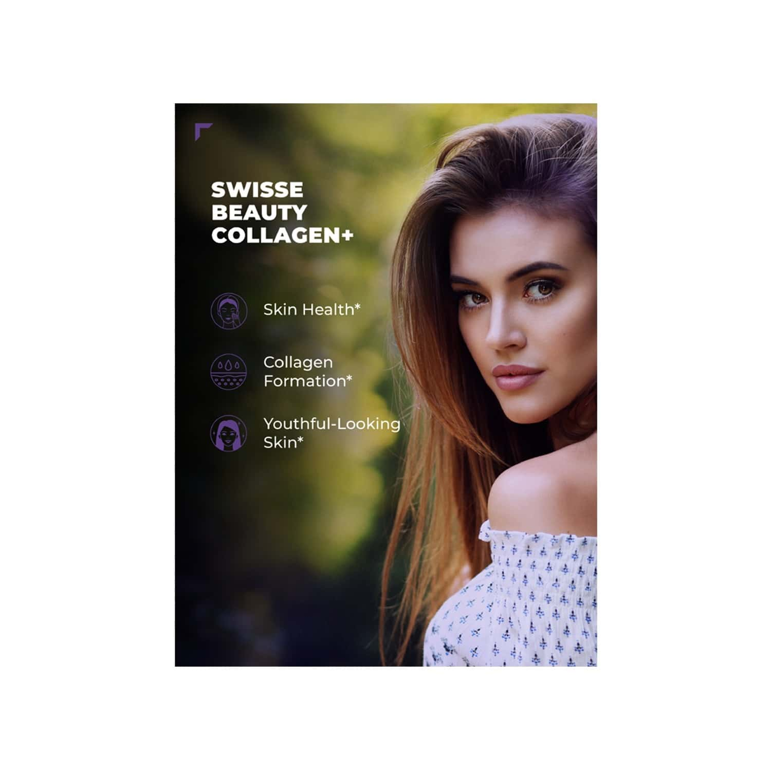 Swisse Beauty Collagen+ Supplement With Peptides & Vitamin C & E For Beautiful Skin - 30 Tablets