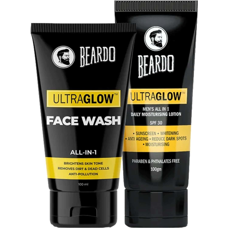 Beardo Ultraglow Lotion And Ultraglow Facewash Combo (pack Of 2)