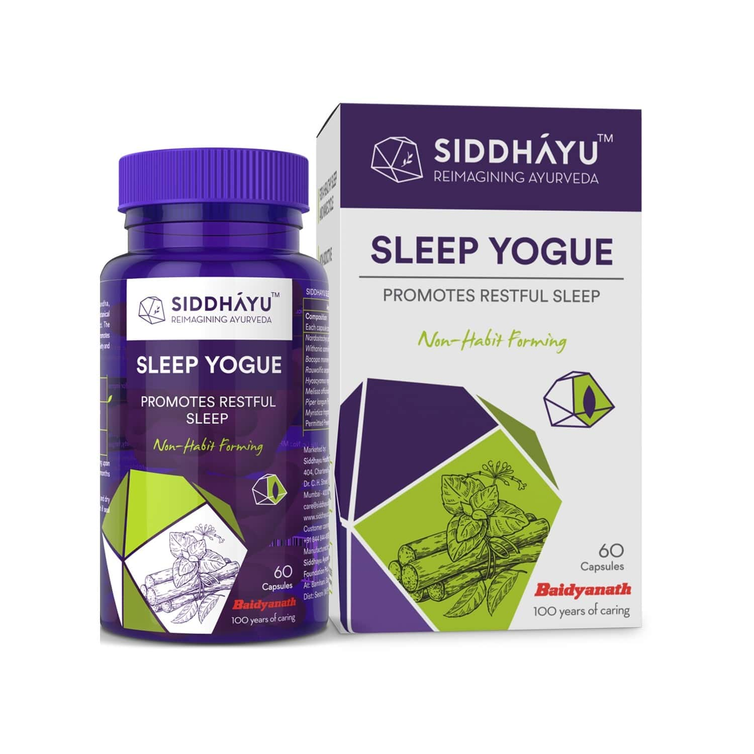 Siddhayu Sleep Yogue Capsules To Promote Restful Sleeps | 60 Capsule X 1
