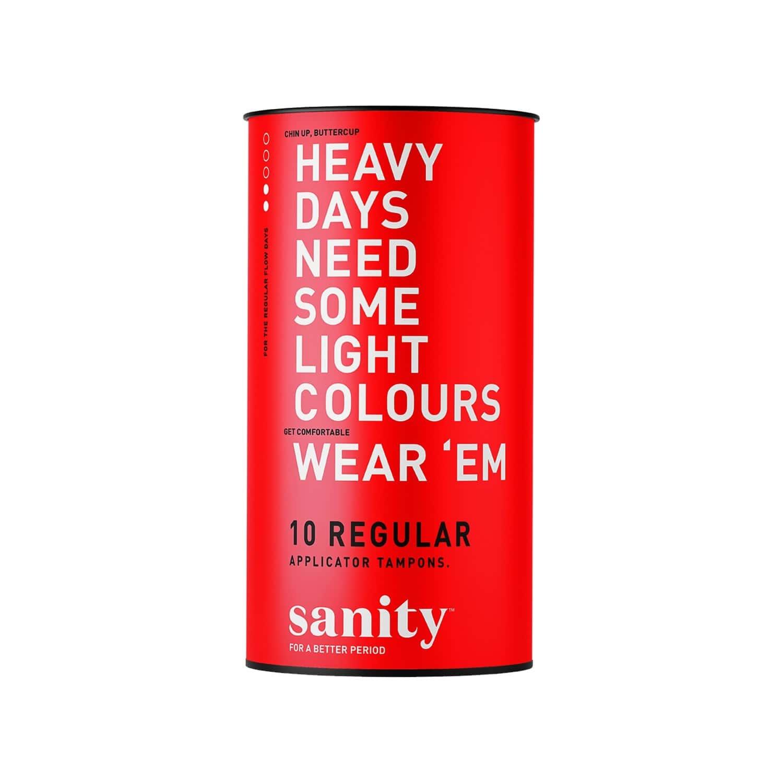 Sanity Regular Applicator Tampons - Pack Of 10
