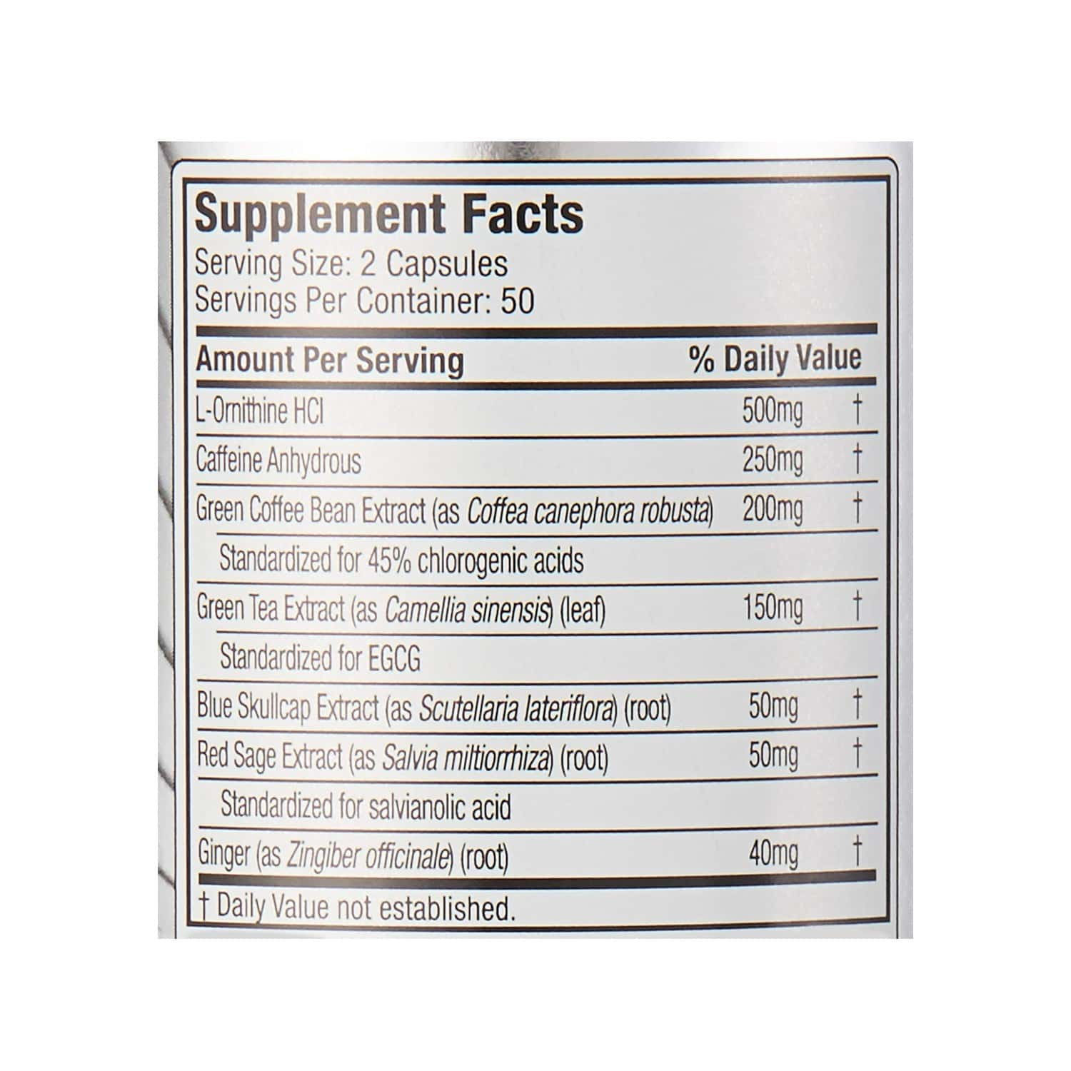 Muscletech Ginger And Salvia Performance Series Hydroxycut Hardcore Next Gen - 200 Gm