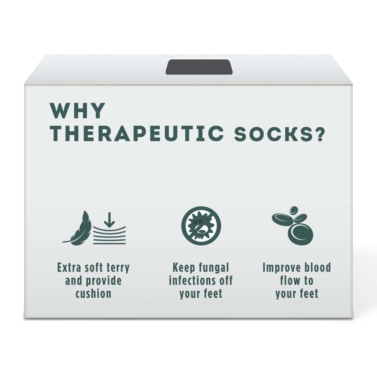 Liveasy Essentials Therapeutic Socks - Designed For Diabetic And Orthopaedic Foot - Unisex Socks - Pack Of 2