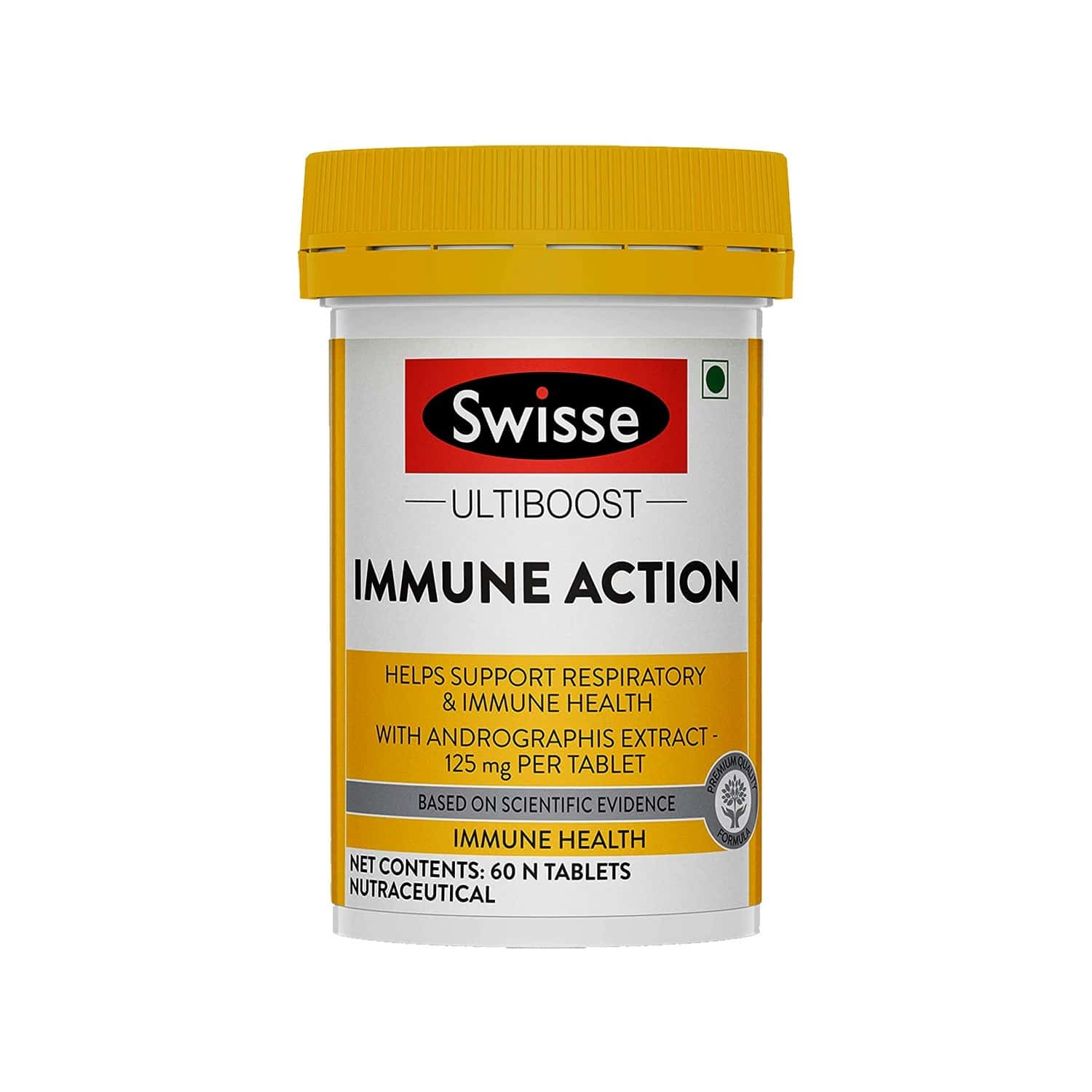 Swisse Ultiboost Immune Action With 125mg Andrographis Extract Per Tablet That Helps Support Respiratory And Immune Health - 60 Tablets