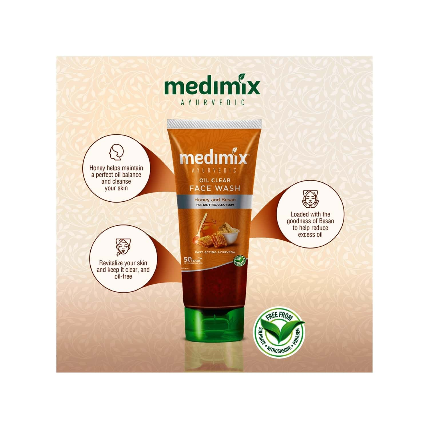 Medimix Ayurvedic Oil Clear Face Wash - 100ml