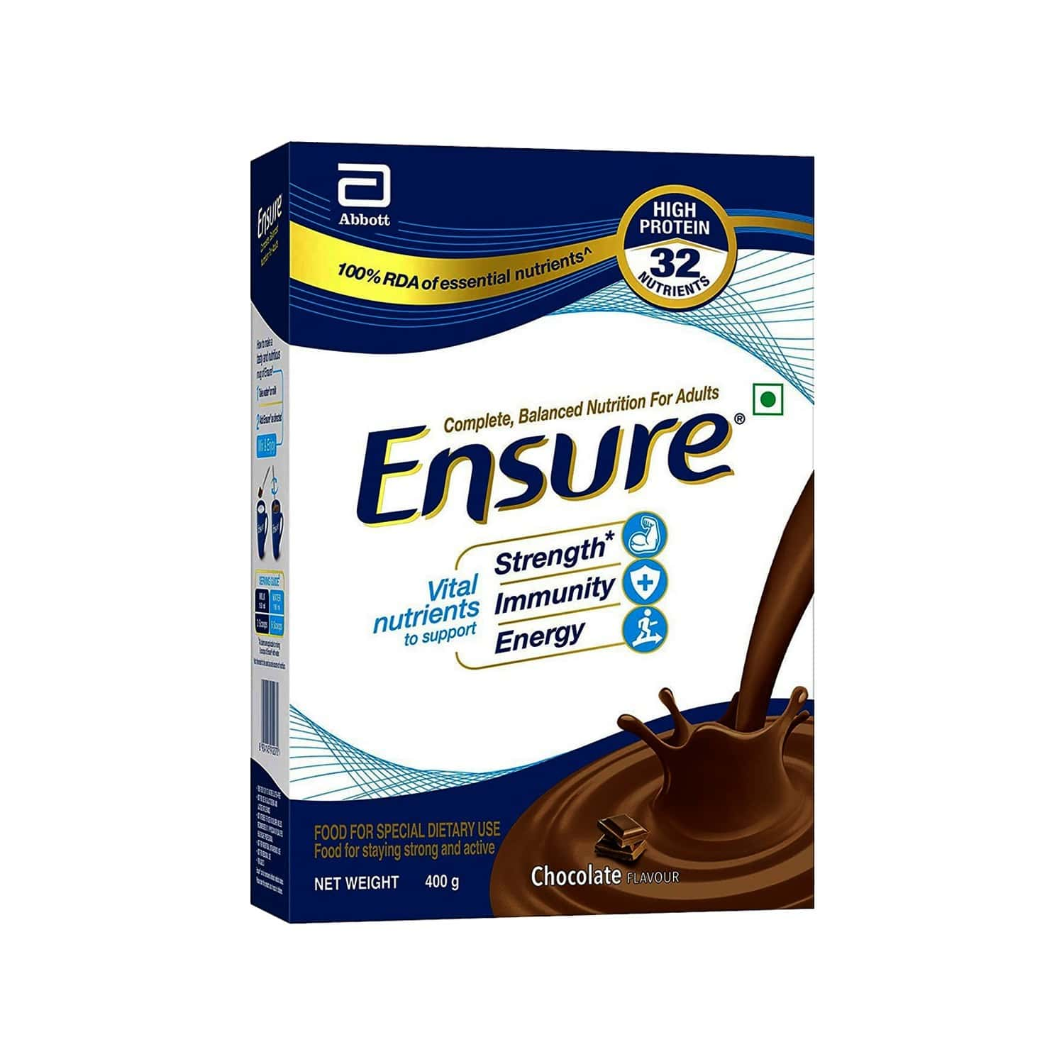 Ensure Chocolate Nutrition Drink Refill Of 400 G