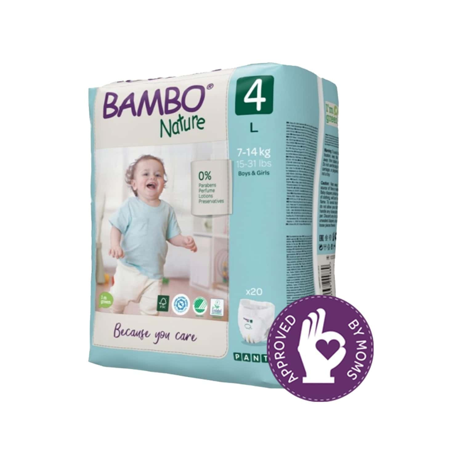 Bambo Nature Large Size Training Pants With Wetness Indicator - 20 Diapers