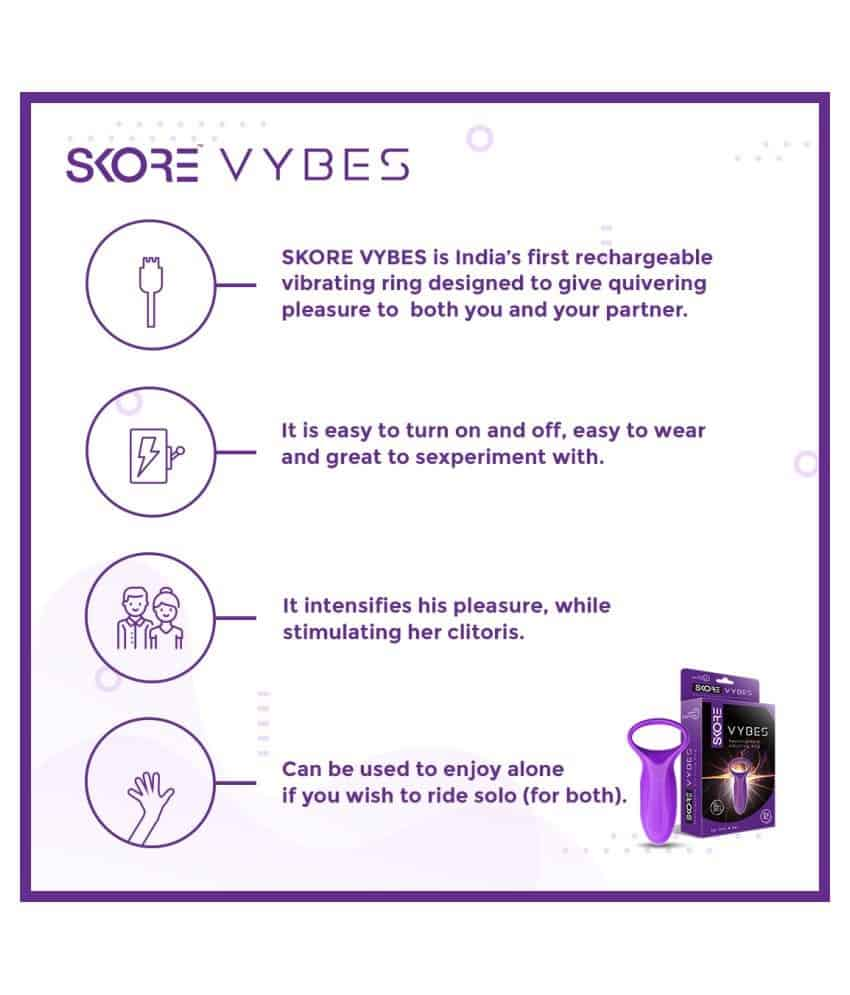 Skore Vybes - Rechargeable Vibrating Ring For Him & Her