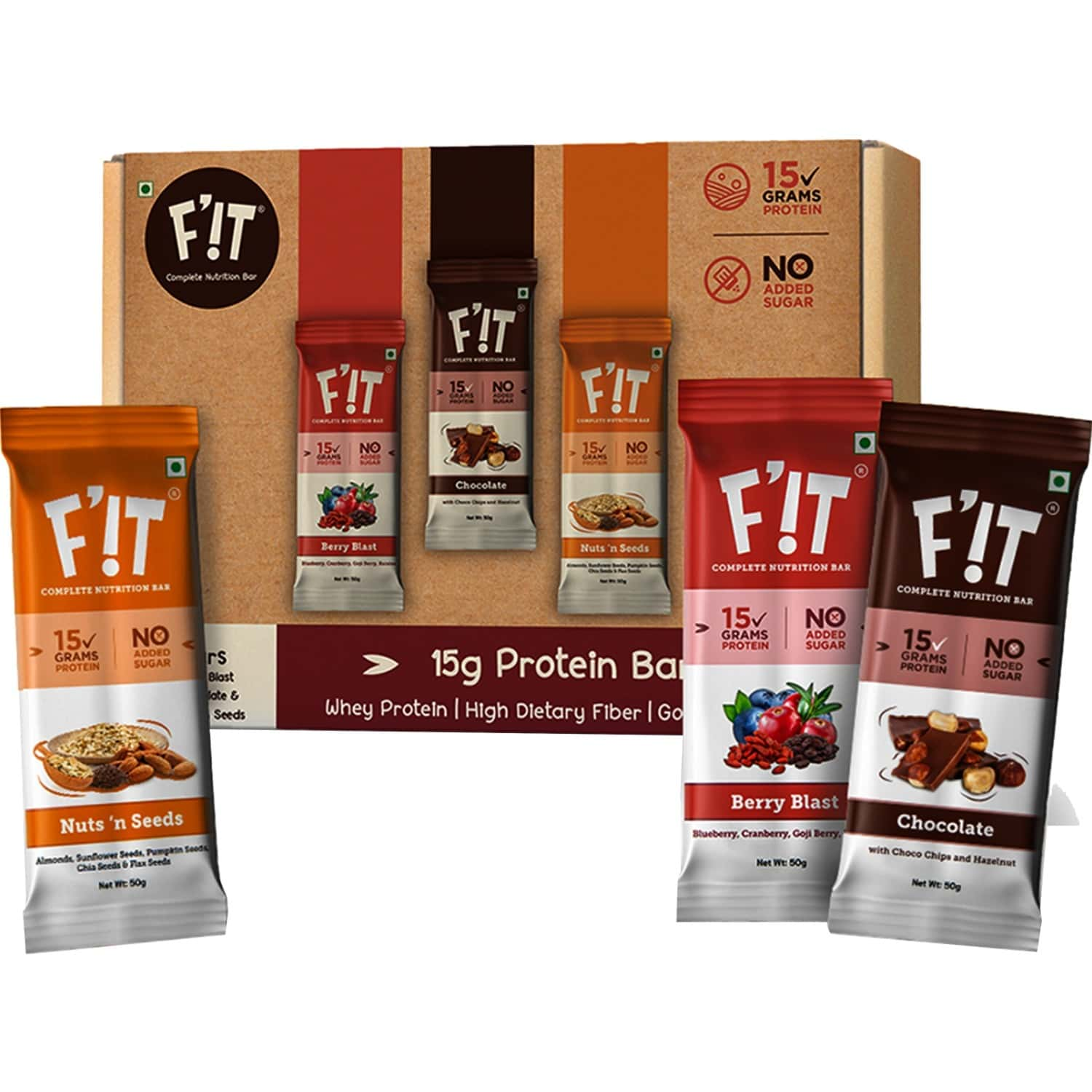 F'it Nutrition Bar Assorted/variety (pack Of 6)