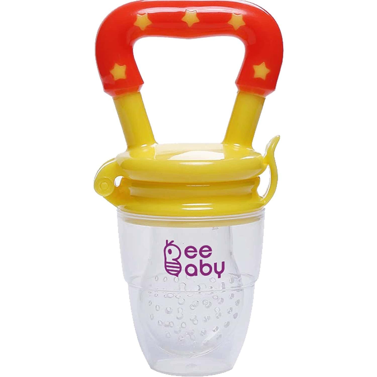 Beebaby Silicone Food And Fruit Nibbler / Feeder With Extra Silicone Mesh (yellow)