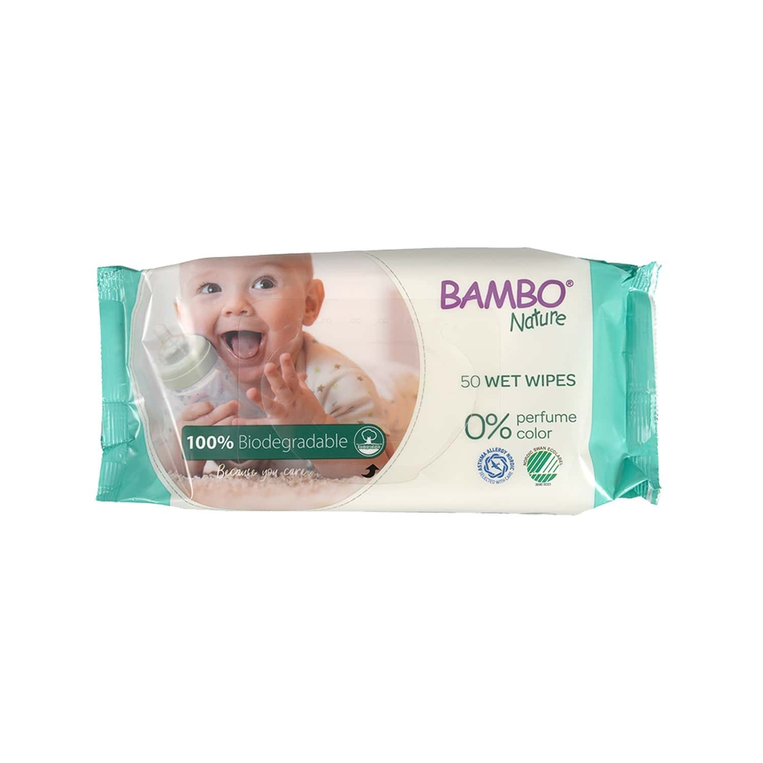 Bambo Nature Biodegradable Wet Wipes - 50 Wipes