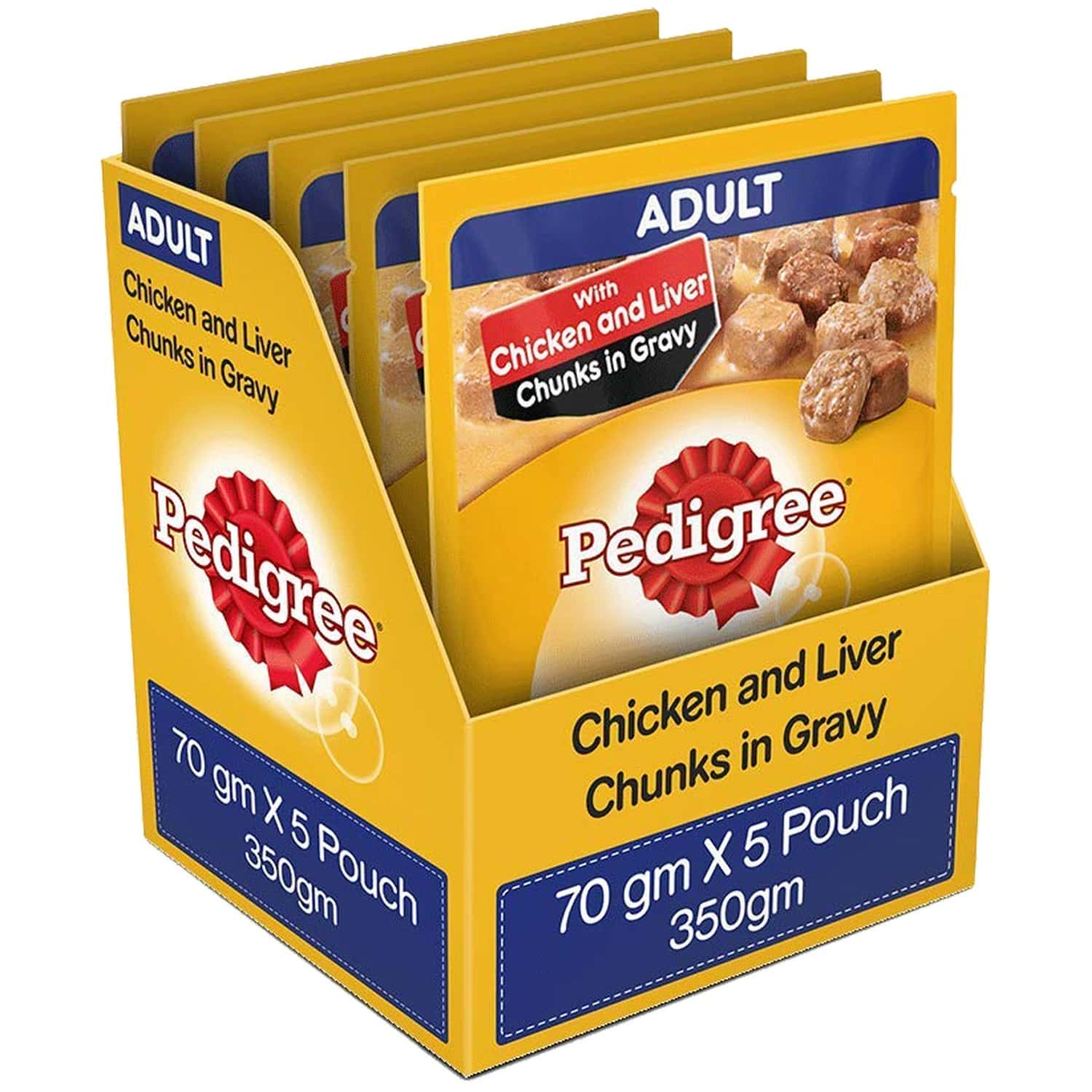 Pedigree Adult Gravy Pack Of 5 350 Gm Pouch