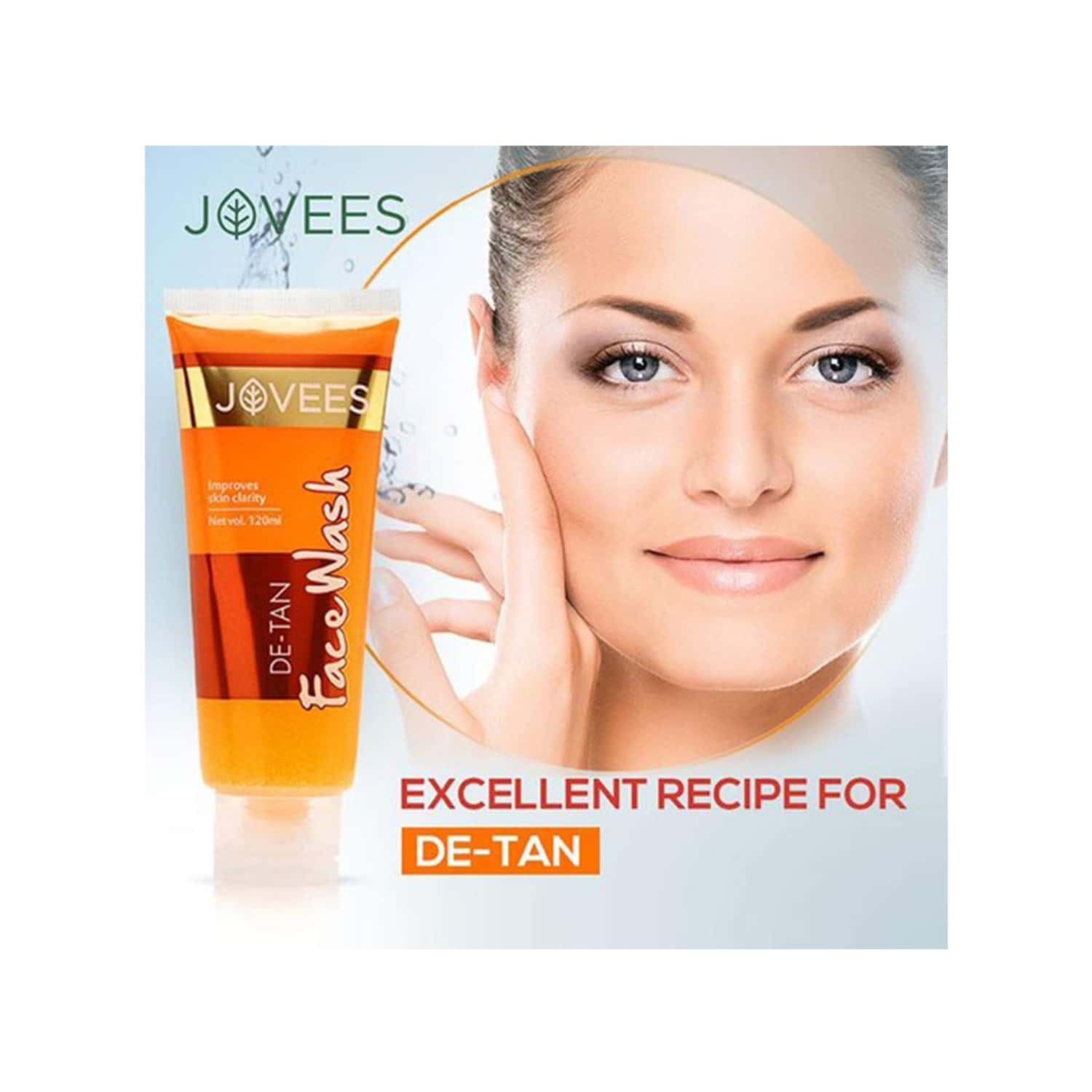 Jovees De -tan Face Wash - 120 Ml