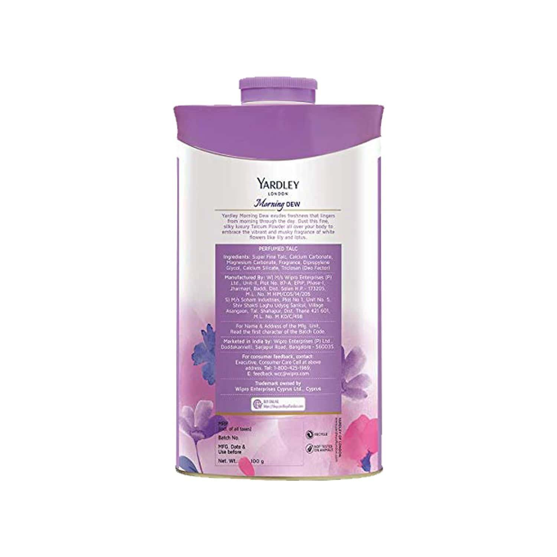 Yardley London Morning Dew Perfumed Talc - 100 Gm