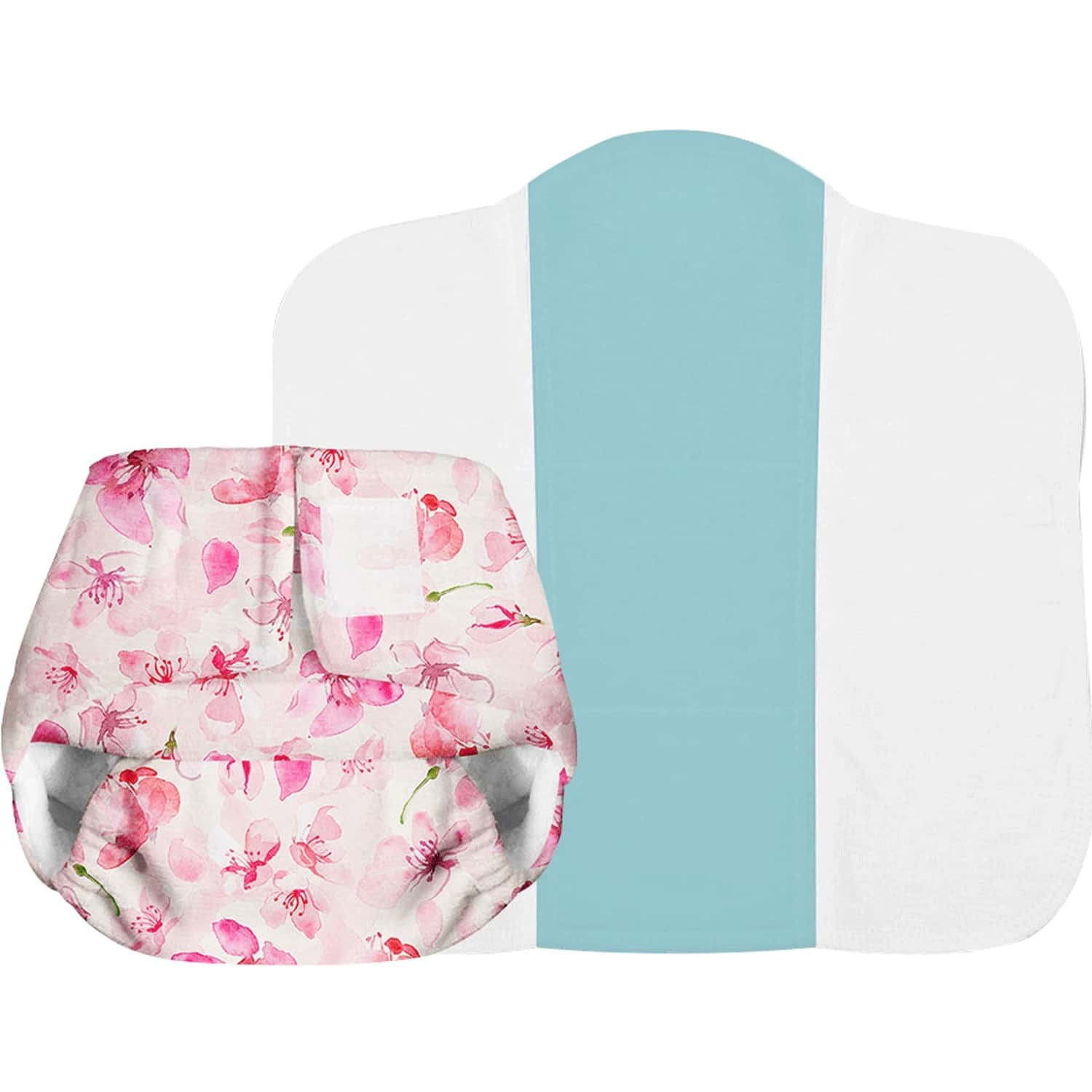 Superbottoms Newborn Uno Reusable Cloth Diaper With Dry Feel Pad 0-6 Months - Cherry Blossom