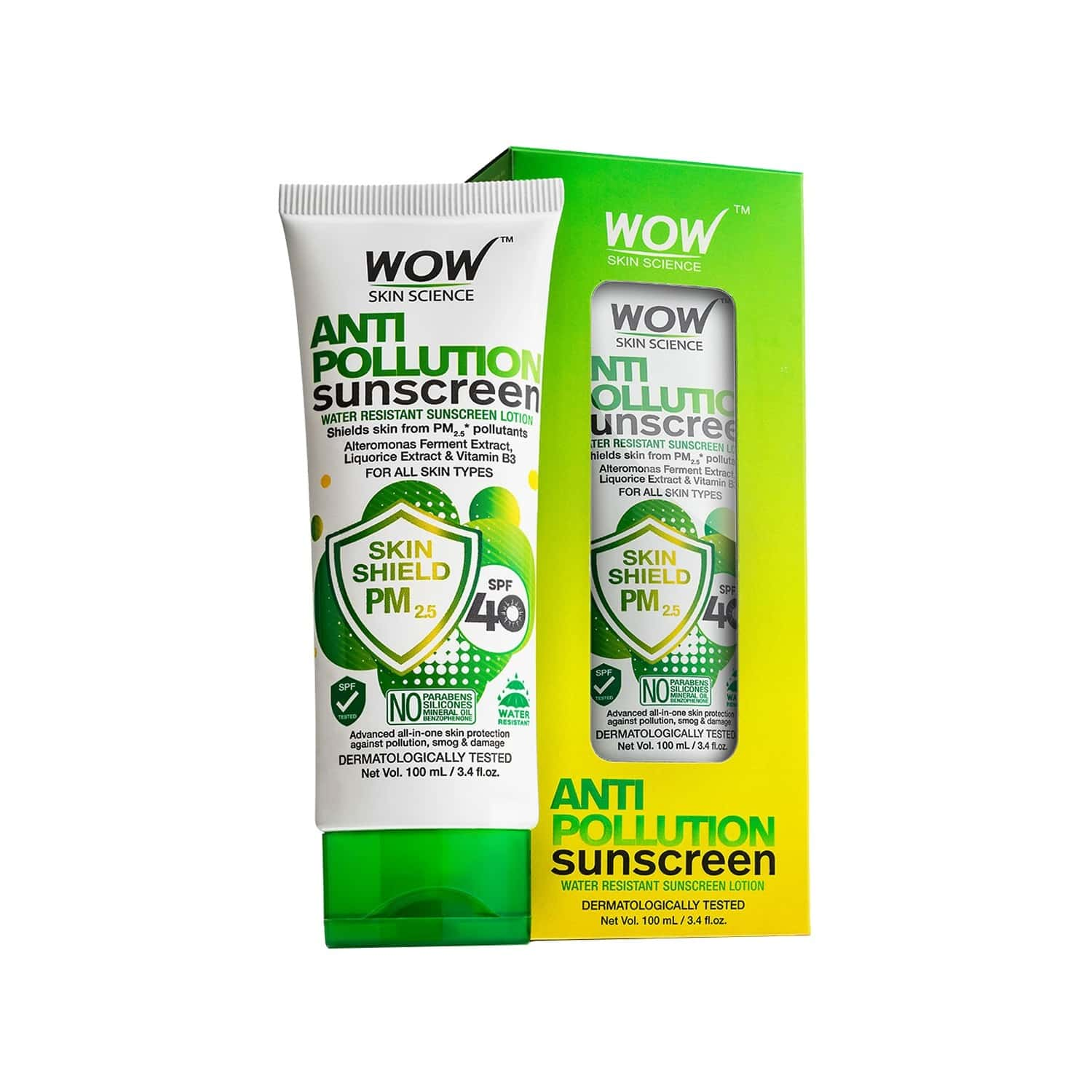 Wow Skin Science Anti Pollution Sunscreen Lotion - 100 Ml Tube