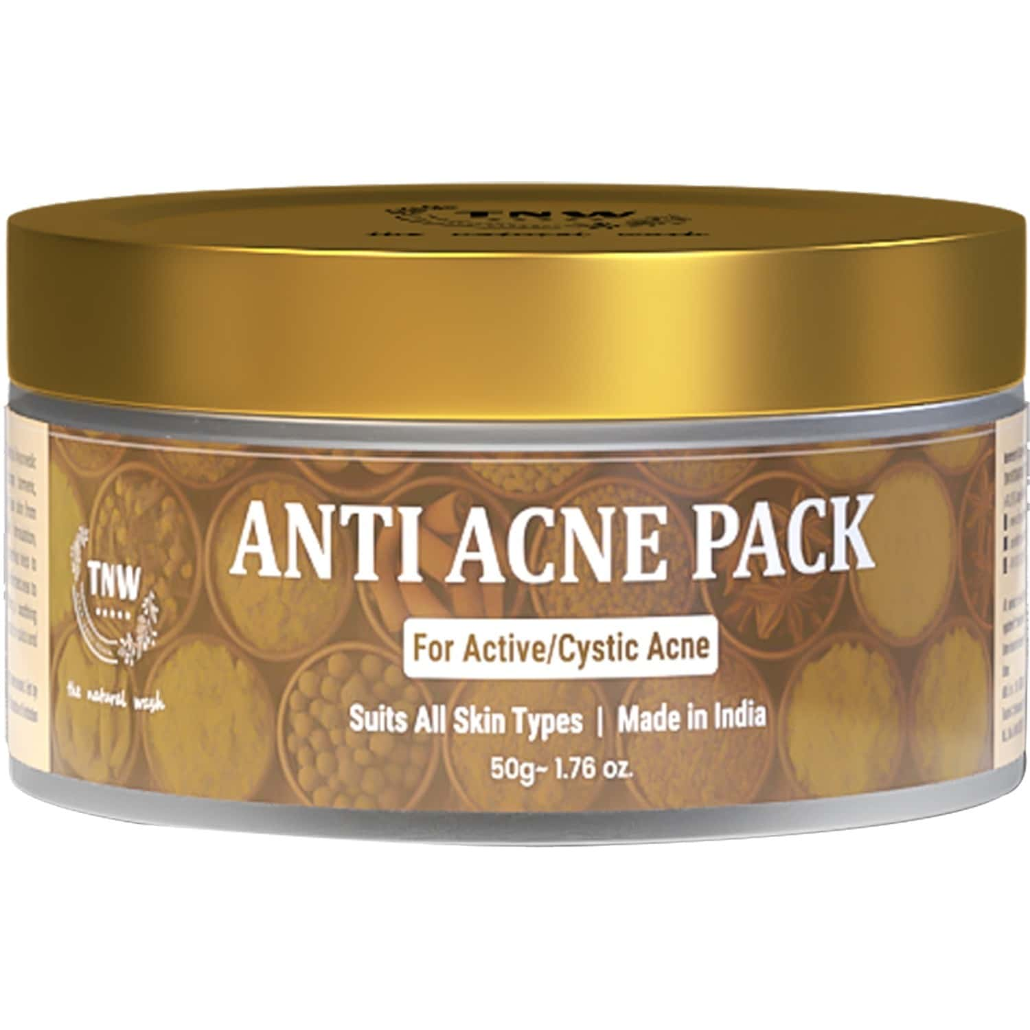 Tnw - The Natural Wash Anti Acne Face Pack For Acne And Pimple Free Skin - 50 Ml