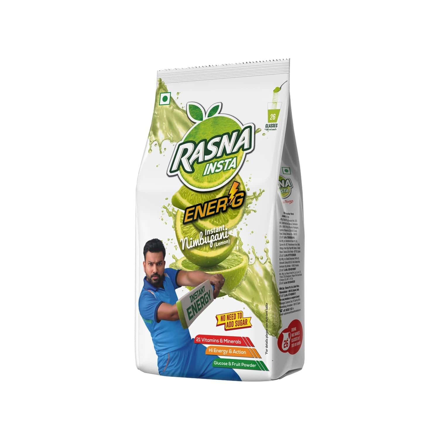 Rasna Insta Drink Concentrate Mix 500 G Pack - Lemon