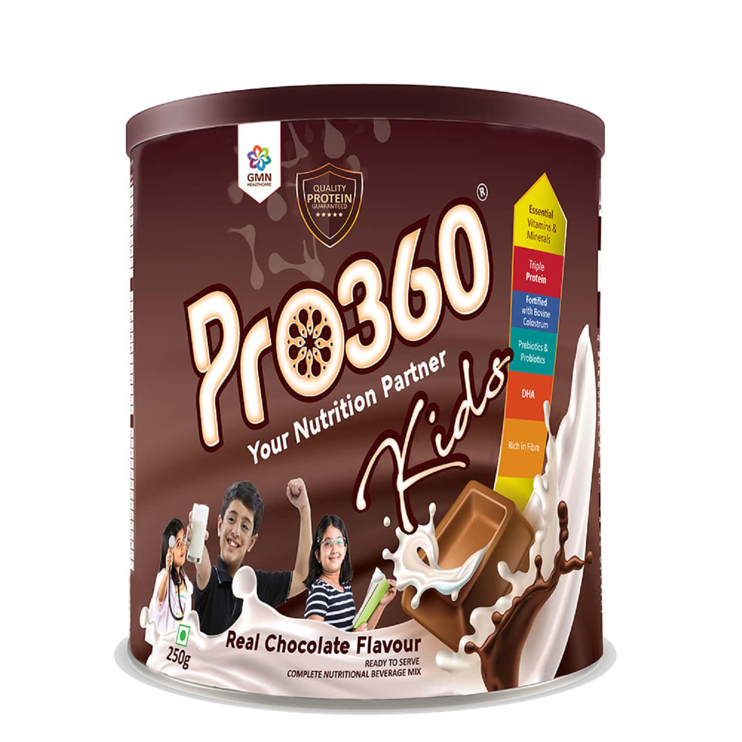 Pro360 Kids Chocolate Nutritional Supplement Powder  Tin Of 250 G