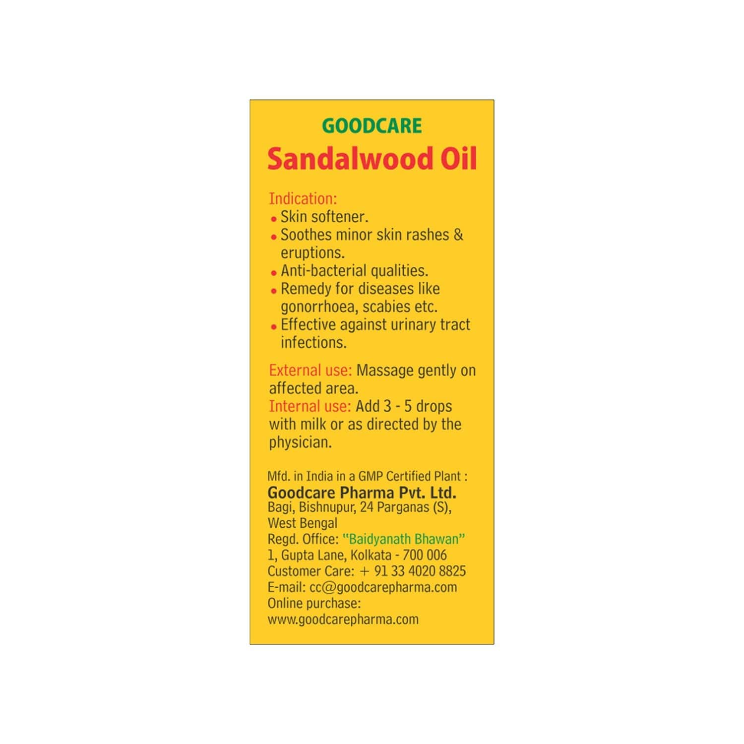 Goodcare Chandan Oil - 2ml