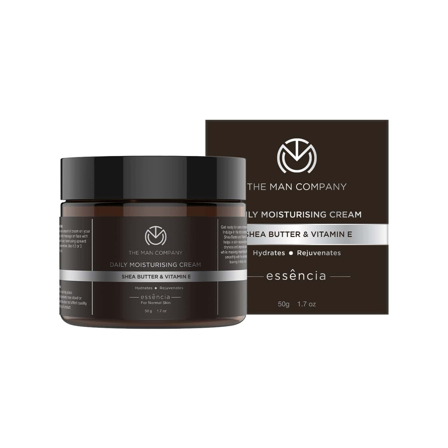 The Man Company Daily Moisturising Cream With Shea Butter And Vitamin E For All Skin Types - 50 Gm
