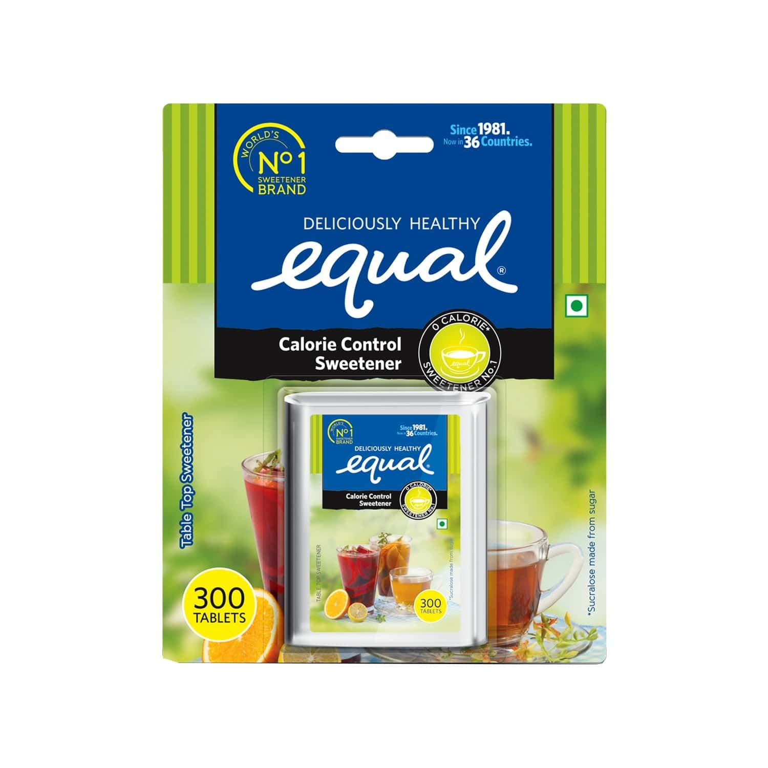 Equal Sweetener Sugar Free Calorie Control - 300 Tablets
