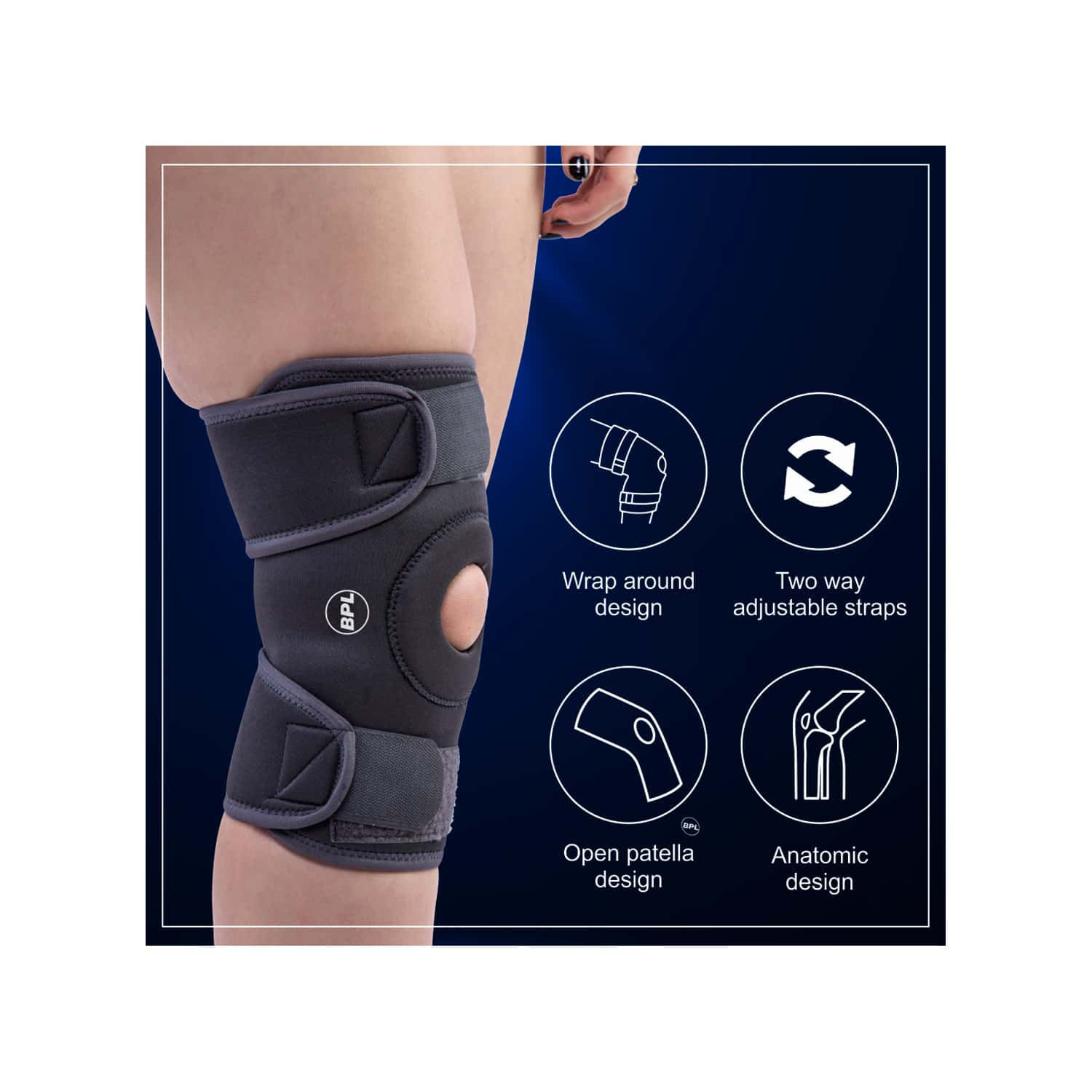 Bpl Orthocare Knee Wrap Grey - S - 1pc