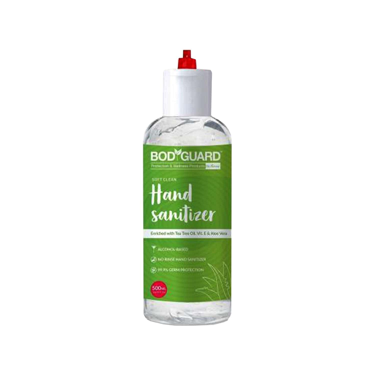 Bodyguard Alcohol Based Hand Sanitizer With Enriched Tea Tree Oil, Vitamin E And Aloe Vera - 500ml
