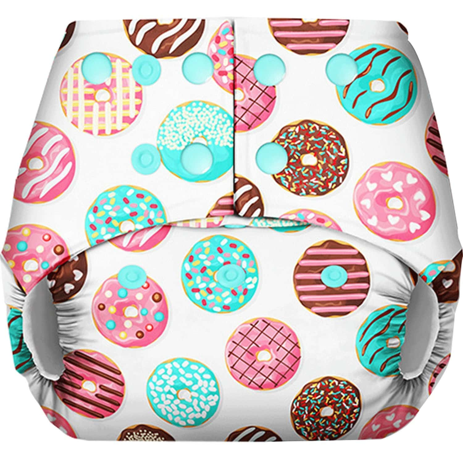 Basic - Freesize Reusable Pocket Cloth Diaper For Babies-with Dry Feel Insert - Donut