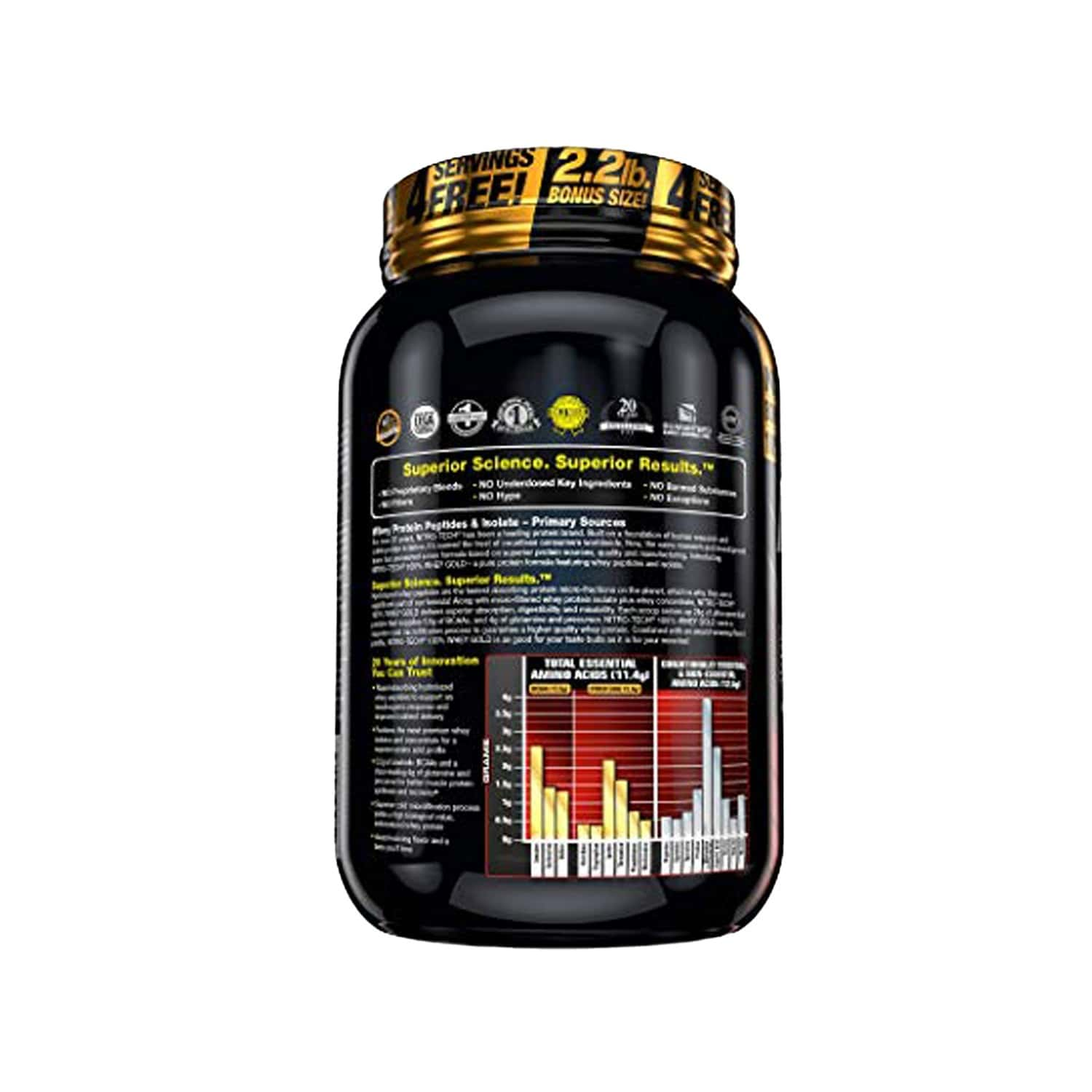 Muscletech Strawberry Protein Powder - 1200 Gm