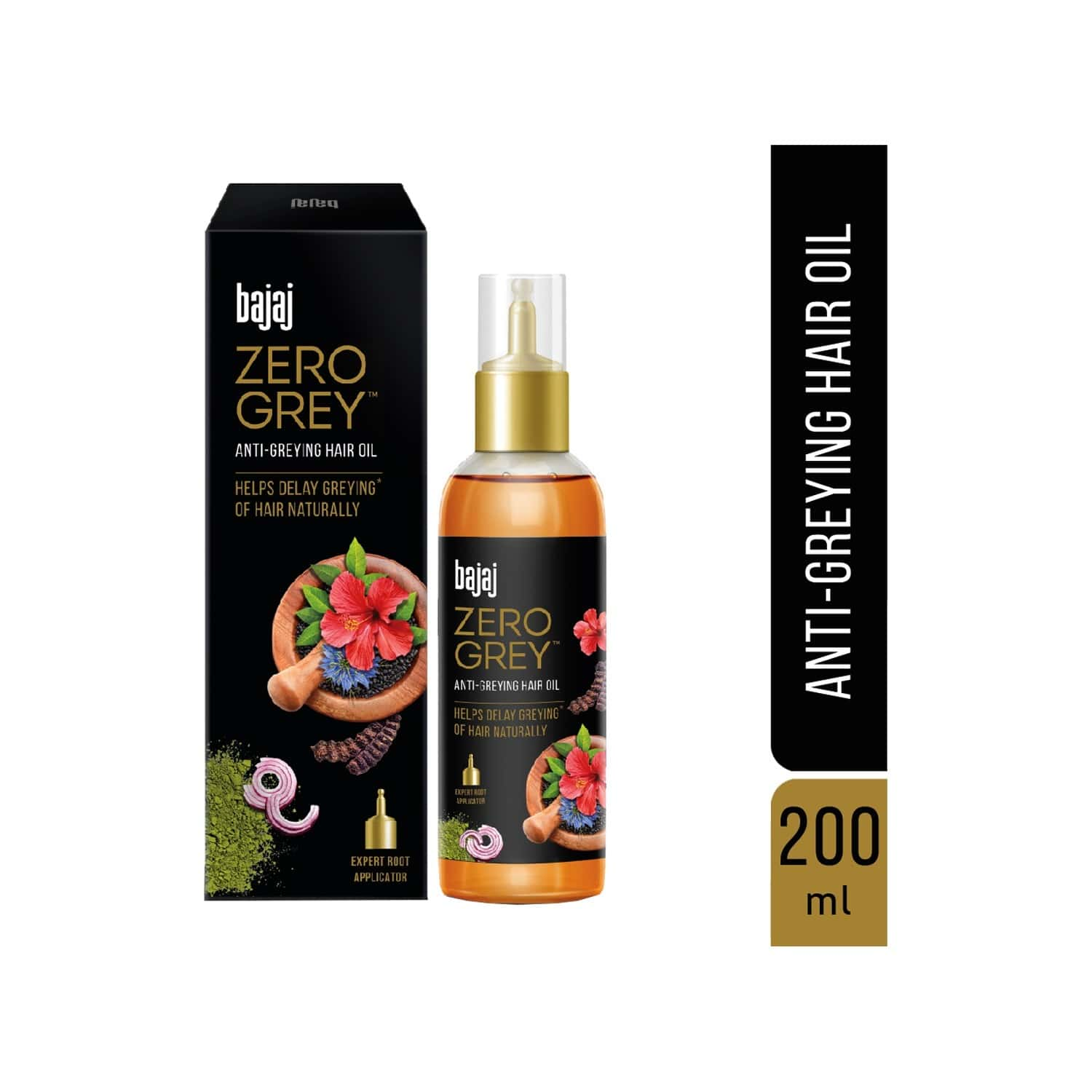 Bajaj Zero Grey Anti - Greying Hair Oil - 200ml