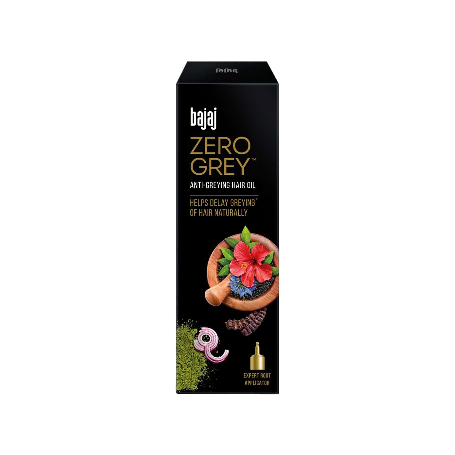 Bajaj Zero Grey Hair Oil Enriched With Onion, Helps Fight Greying Of Hair Naturally, 200ml