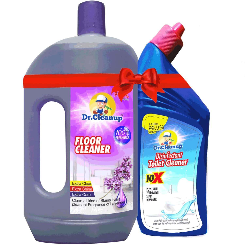 Dr Cleanup Lavender Floor Cleaner - 1000ml (free Dr Cleanup Toilet Cleaner - 500ml)