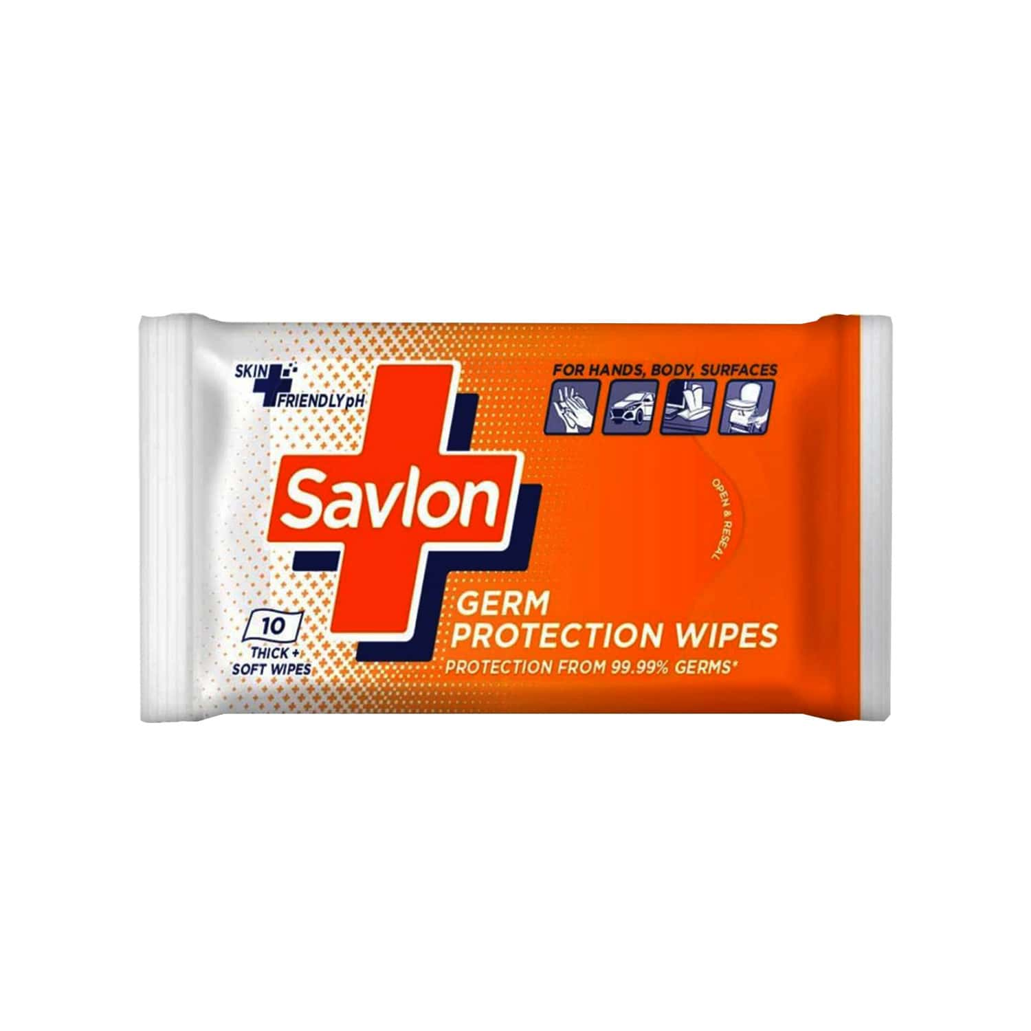 Savlon Germ Protection Wet Wipes Pack Of 10