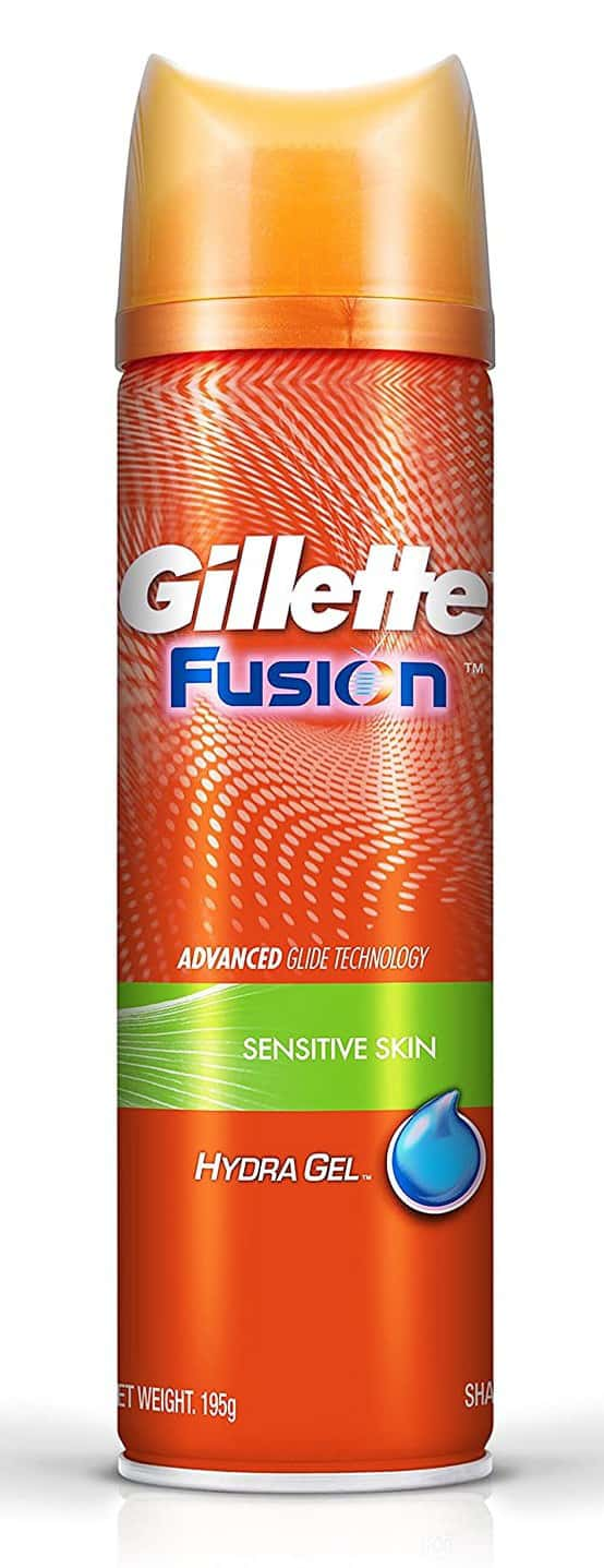 Gillette Fusion Hydragel Sensitive Shaving Gel Bottle Of 195