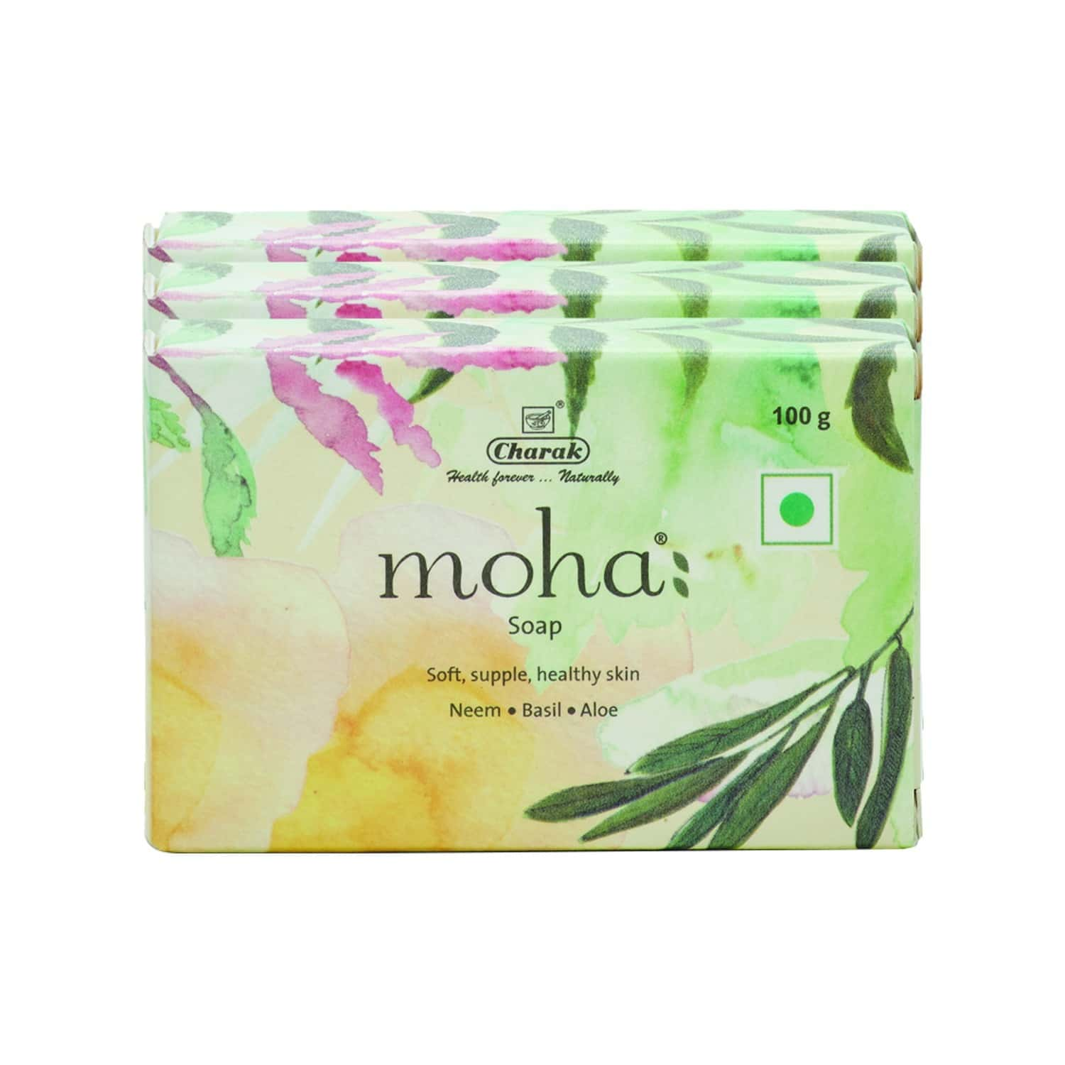 Moha Herbal Soap Box Of 300 G (buy 2 Get 1 Free)