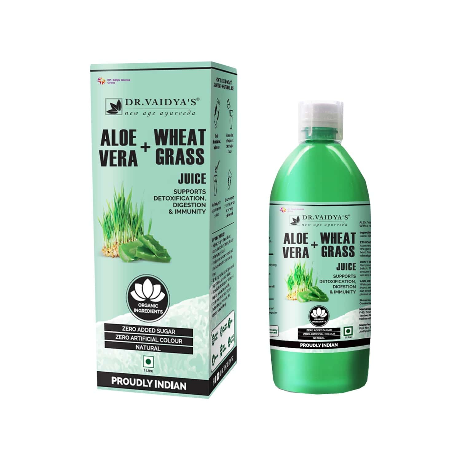 Dr. Vaidya's Aloevera And Wheatgrass Juice - 1 Litre
