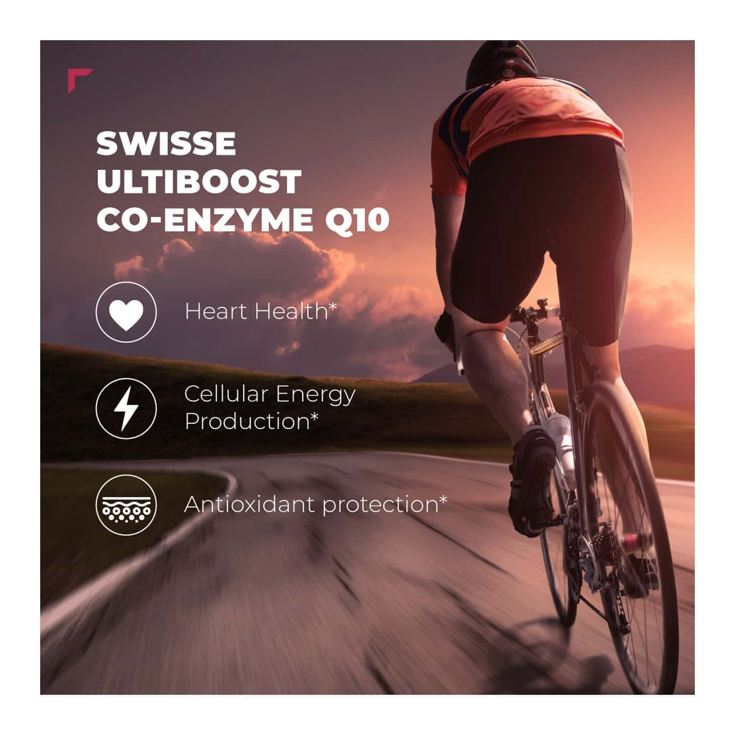 Swisse Ultiboost Co Enzyme Q-10 Supplement For Heart & Energy Metabolism - 50 Capsules
