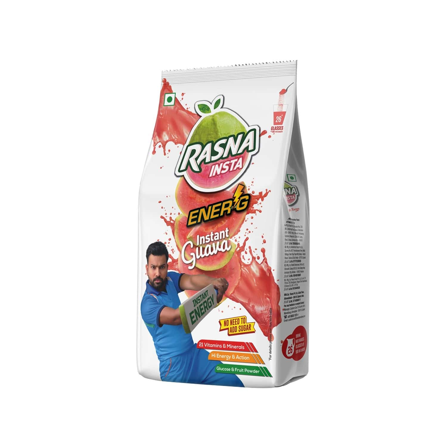 Rasna Insta Drink Concentrate Mix 500 G Pack - Guava