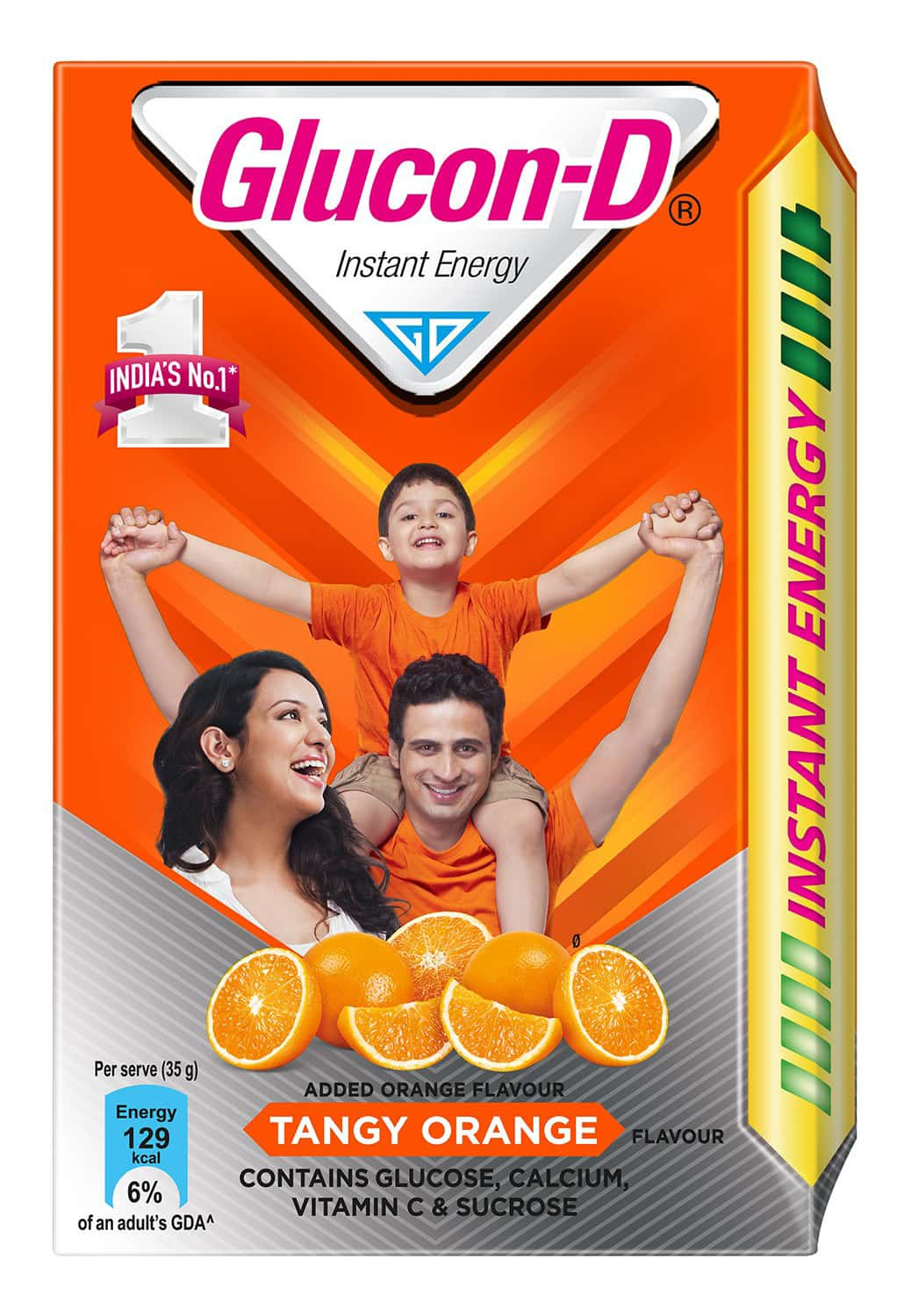 Glucon-d Tangy Orange Health Drink Refill Of 450 G (tiffin Worth 80 Rupees Free)