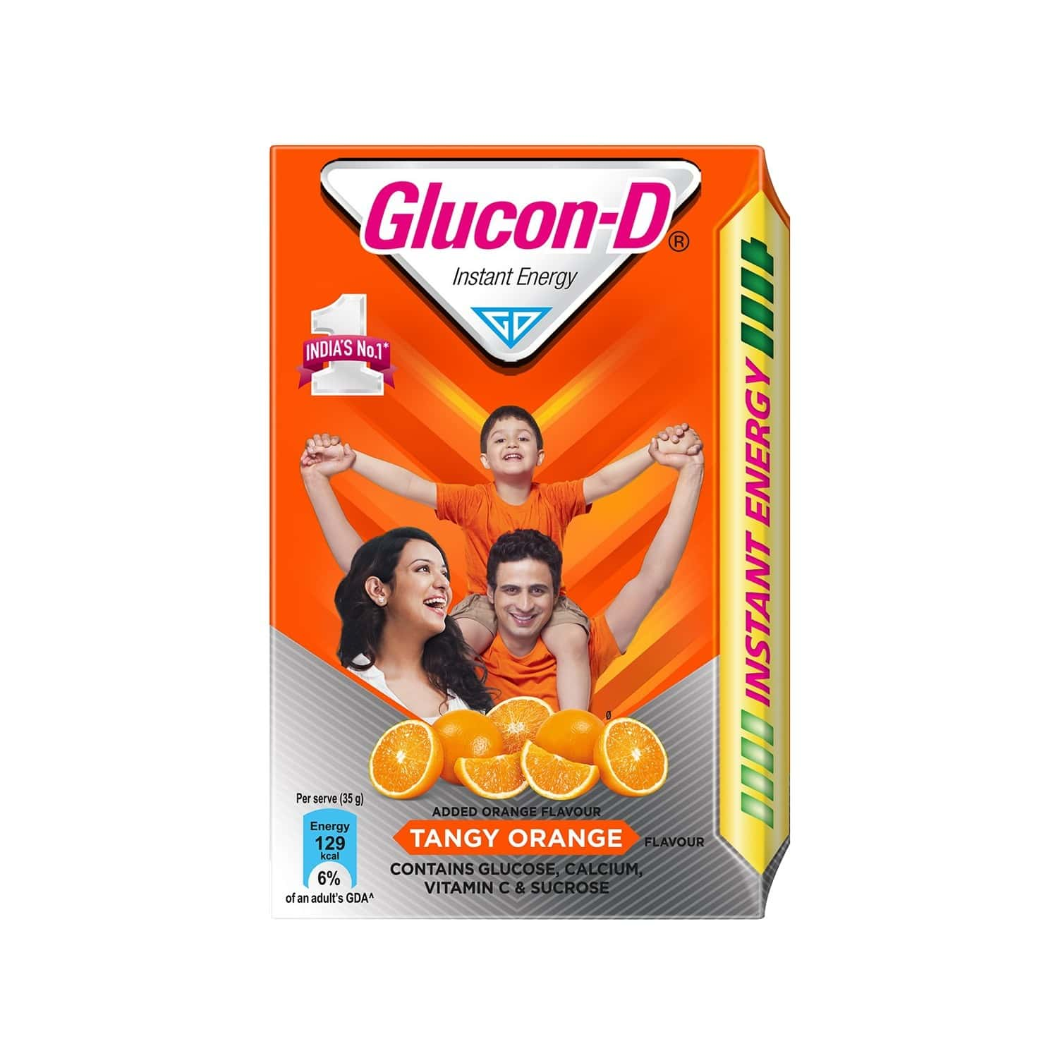 Glucon-d Tangy Orange Health Drink Refill Of 450 G (tiffin Worth 85 Rupees Free)