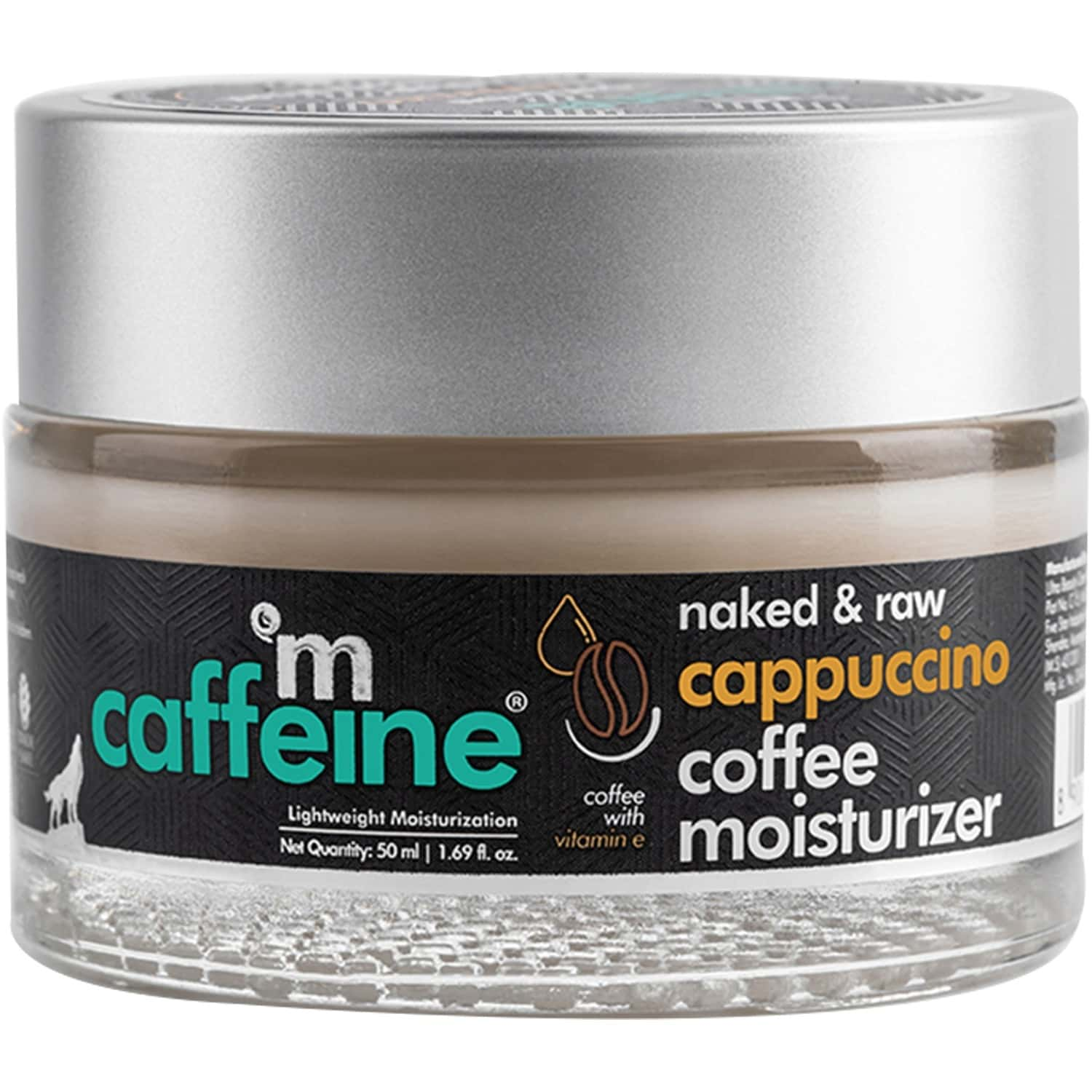 Mcaffeine Lightweight Cappuccino Coffee Moisturizer With Vitamin E & Almond Milk For Toning & Soothing (50ml)
