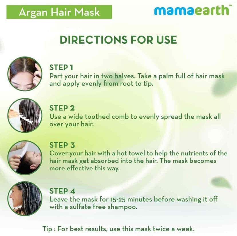 Mamaearth Argan  Hairfall Control Mask  Container Of 200 Ml