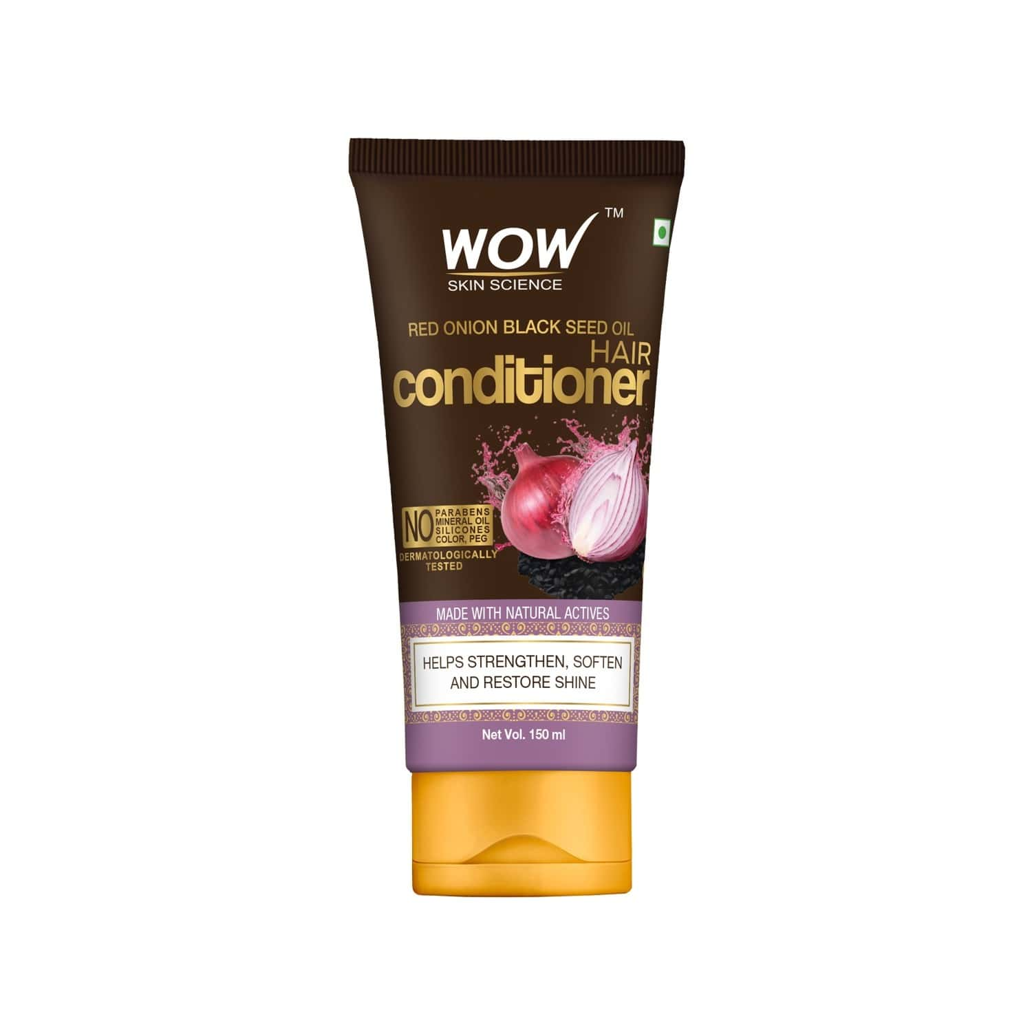 Wow Skin Science Red Onion Black Seed Oil Hair Conditioner  Tube Of 150 Ml