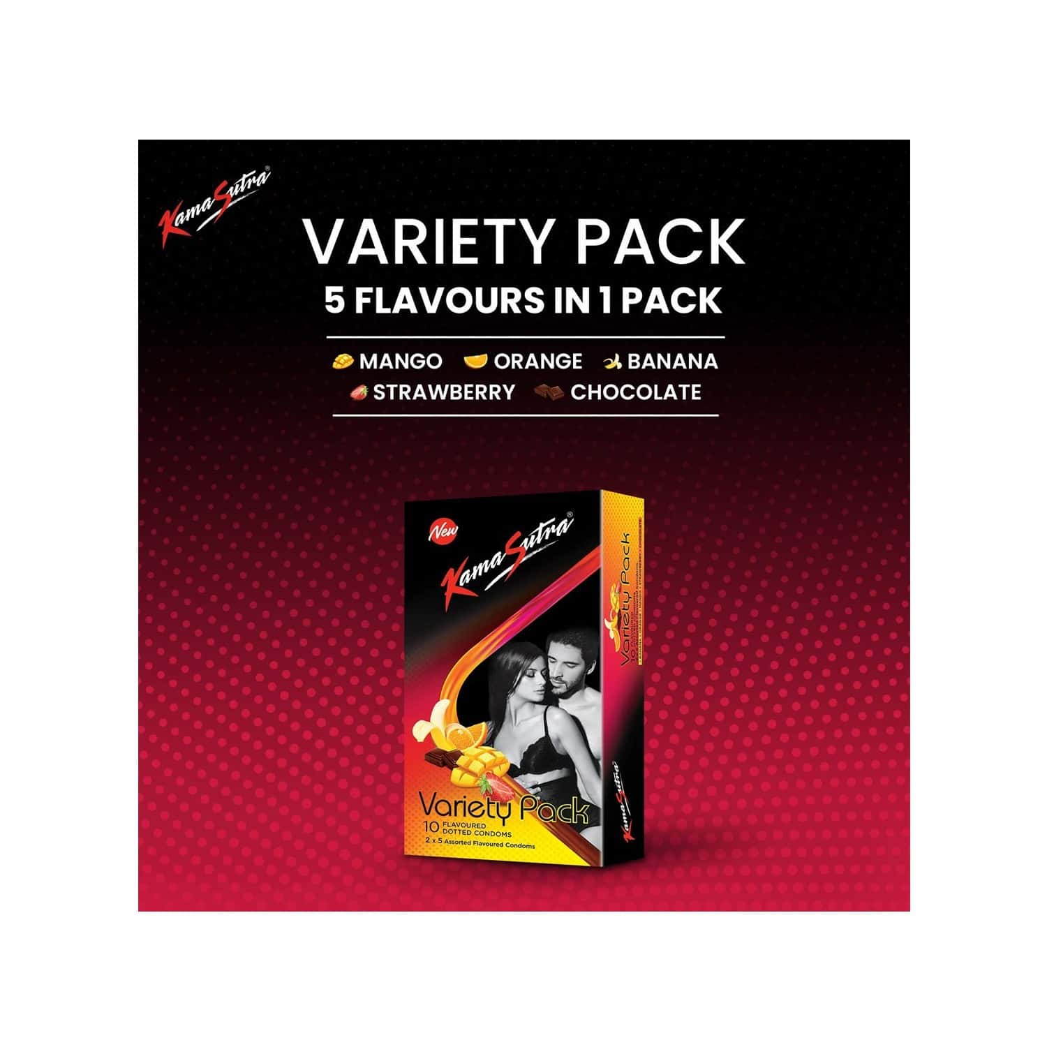 Kamasutra Multi Flavour Packet Of 10 Condoms
