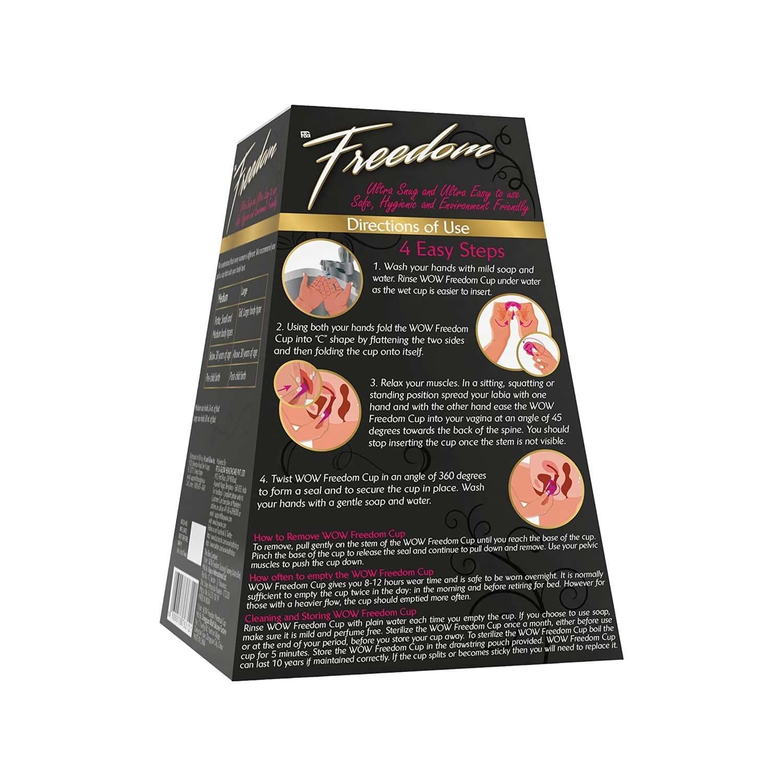 Wow Skin Science  Freedom Reusable Menstrual Cup & Wash  (medium)