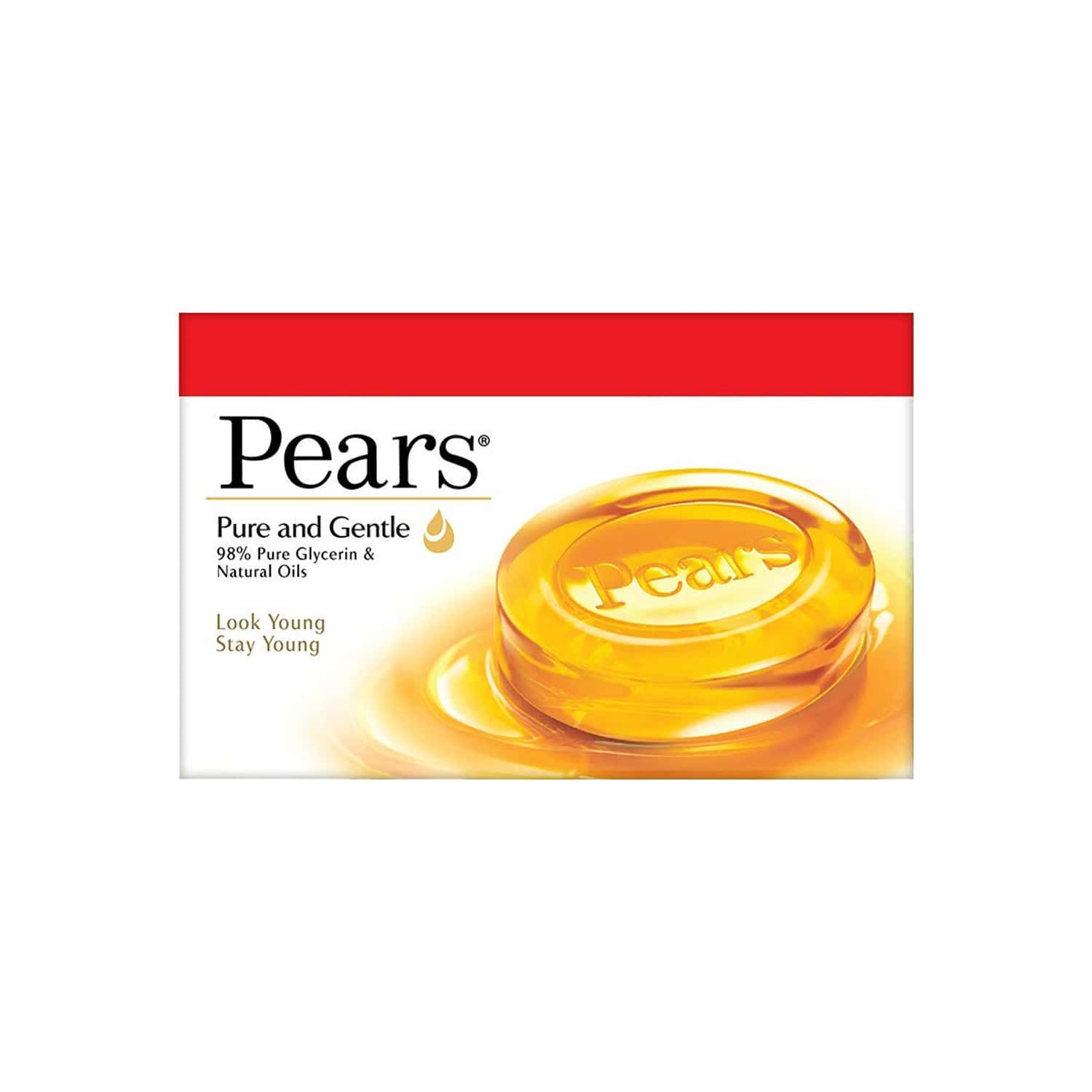 Pears Moisturising Bathing Bar Soap With Glycerine Pure & Gentle - For Golden Glow - (125g X 5)