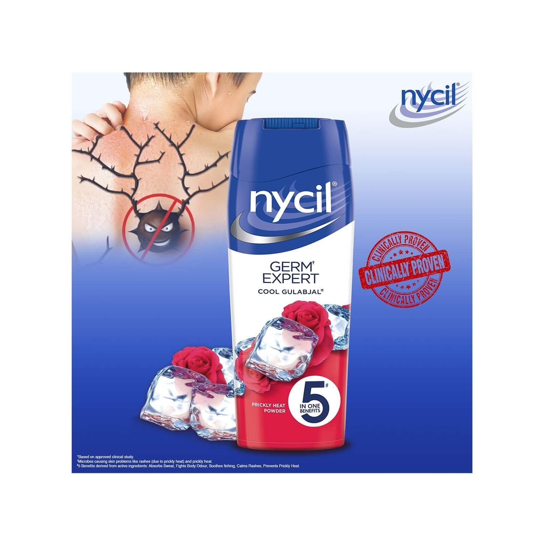 Nycil Cool Gulabjal Prickly Heat Talcum Powder  Bottle Of 400 G