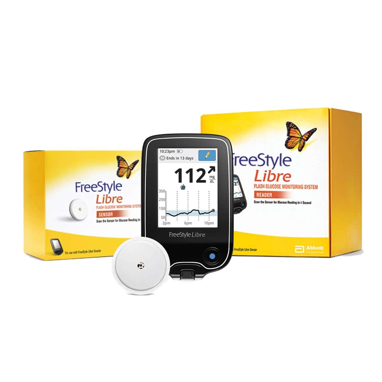 Freestyle Libre Flash Glucose Monitoring System ( Reader & Sensor) Glucometer
