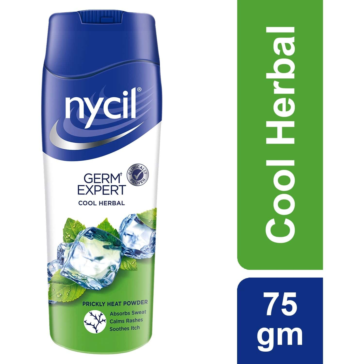 Nycil Cool Herbal Neem + Pudina Prickly Heat Powder  Bottle Of 75 G